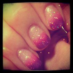 Glittery pink & lilac
