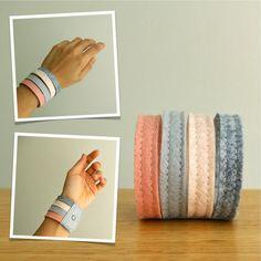 Handmade Wool Felt Cuff Bracelet Wristband by LoftFullOfGoodies