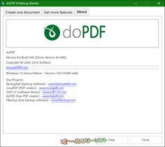 doPDF 8.5.940   doPDF--About--オールフリーソフト