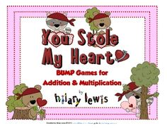 FREE Addition & Multiplication Bump-You Stole My Heart #free #tpt