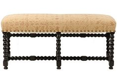 Antique Spanish Bench, love it but, depending on the room, would want to reupholster into something with pizzaz...