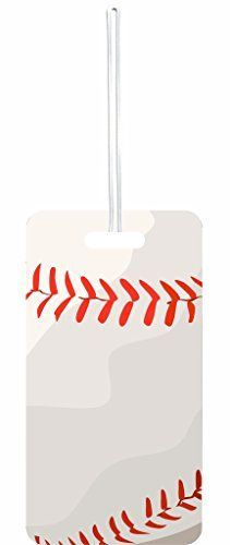 Luggage Tags Collections | UpClose Baseball Rosie Parker Inc Set of 6 Luggage Tags with Personalized Back ** Want to know more, click on the image. Note:It is Affiliate Link to Amazon.