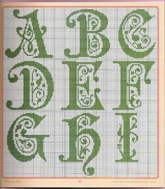 celtic cross stitch alphabet - Google Search