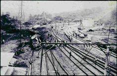Não gosto de postar fotos de acidente, mais está foto é histórica! Foto do acidente ocorrido em março de 1974 na cremalheira, não sei quem é o autor das fotos!!! Mais copiei do Compa Alex Pinheiro!!!