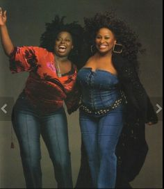 Angie Stone and her mentor Chaka Khan