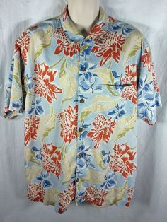 1764328ef28f Patagonia Pataloha Shirt Size Large 100% Cotton Blue Green Red Floral  Tropical L  PatagoniaPataloha