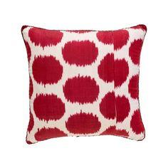 Raspberry Mu Ikat Pillow