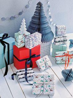 Weihnachtliches Geschenkpapier zum Download