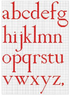 Alfabeto Cross Stitch Chart