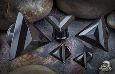 BodyArtForms: black obsidian plugs. I'm at 6 gauge (4 mm)