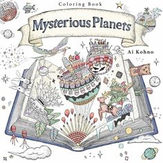 Cover For Mysterious Planets A Coloring Book By Ai Kohno