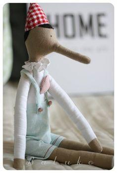 Pinokio Tilda - ozdoba / maskotka - Dziecko - DecoBazaar