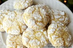 Lemon Cool Whip Cookies - Eating on a Dime - Uses cake mix, 1 egg, cool whip, and powdered sugar!