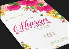 Floral Funeral Program Template by Godserv on Etsy