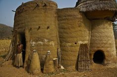 Tatas, castle-like houses that are handmade without any tools in Tamberma Valley, north Togo, Africa