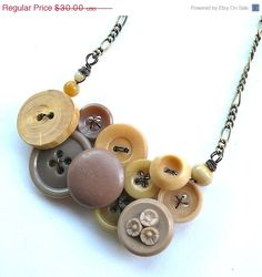 Mothers Day Sale Nude Neutral Tan Button by buttonsoupjewelry, $24.00