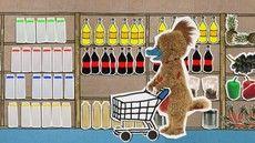 Naar de winkel Dutch Language, Preschool Themes, Dinosaur Stuffed Animal, Kindergarten, Restaurant, Kids Rugs, Teaching, Projects, Convenience Store