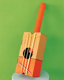 Craft project: homemade instruments for kids