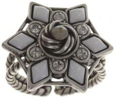 Ring Arabic Nights white/grey