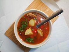 miejscy roślinożercy: Prawie kolumbijska zupa z czerwonej fasoli, papryk...