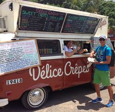 Vegan crepes at Delice Crepes food truck while backpacking across the North Shore = The Delicious Life! #vegan #summer #hawaii #northshore #theendlesssummer #foodtruck