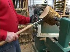 Lyle on Mounting Wood Blanks on a Lathe! Visit http://www.handymantips.org/category/woodworking/ for more woodturning tips!