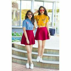Look Your Best With This Fashion Advice Stylish Photo Pose, Stylish Girls Photos, Stylish Girl Pic, Best Friend Poses, Best Friend Outfits, Twin Outfits, Girl Outfits, Fashion Outfits, Fashion Trends
