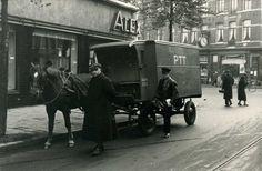www.trondbargie.nl - - - - - - - - -  Amsterdam Zuid en omgeving- Postpaarden deden tot 1932 hun dienst voor de PTT