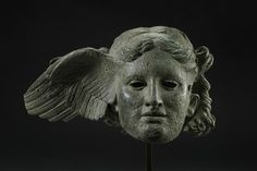 Winged head representing Hypnos, Greek original of the 4th century B.C. or Roman replica of the 1st century B.C. Bronze, Height 21 cm. British Museum, London© The Trustees of the British Museum.
