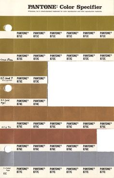 Pantone Metallic Color Chart  Google Search  My Colour Chest