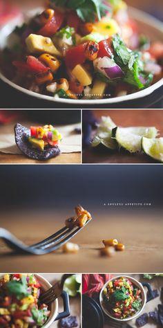 Recipe: Sexy Fresh Salsa with Blackened Corn #Vegetarian #GlutenFree #Healthy
