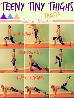 Teeny Tiny Thighs %7BTabata Workout%7D