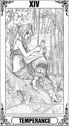KH Tarot: Temperance by Autumn-Sacura.deviantart.com on @deviantART