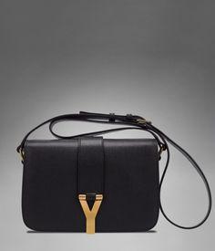 Medium YSL Chyc Flap Bag in Black Textured Leather - Shoulder Bags – Handbags – Women – Yves Saint Laurent