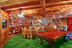 """It's not high tech and fancy but it's my husband to a """"T""""...so in this sweepstakes fantasy if I get a secret room, beautiful gardens and a closet to die for, my husband gets his perfect man cave! Just add beer, loud friends and a dart board!"""