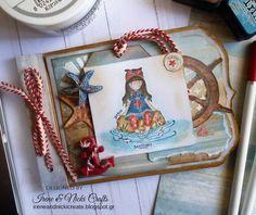 : Gorjuss Santoro Nautical Mini AlbumHi every. Irene, Mini Albums, Nautical, Projects, Blog, Handmade, Crafts, Design, Decor