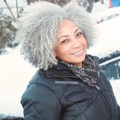 Salt and pepper gray hair. Aging and going gray gracefully. Grey Hair Journey, Cabello Afro Natural, Going Gray Gracefully, Aging Gracefully, Silver Grey Hair, White Hair, Black Hair, Black Silver, Silver Haired Beauties