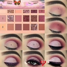 eye makeup tutorial; eye makeup for brown eyes; eye makeup natural; #Eyemakeup #makeuptutorial #BeginnerMakeupLooks<br> Makeup Eye Looks, Eye Makeup Steps, Beautiful Eye Makeup, Simple Eye Makeup, Natural Eye Makeup, Cute Makeup, Smokey Eye Makeup, Perfect Makeup, Prom Makeup