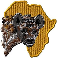Large hyena iron on or sew on patch Africa by EmbroideryPatchLove