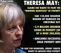 As the excellent @Rachael_Swindon blog has pointed out this evening, while Labour leader Jeremy Corbyn wants to abolish child poverty, the Tories have admitted that they intend to abolish the Child…
