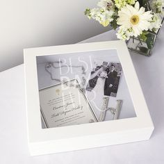 Best Day Ever Wedding Wishes Keepsake Shadow Box
