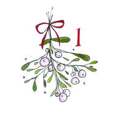 Advent Doodle 2014 #1 #adventchallenge2014 Jane Moore Houghton janemhoughton.com