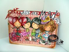 Paper Art, Paper Crafts, Doodle Inspiration, Copics, Crafty Projects, Little Darlings, Alice In Wonderland, Card Ideas, Card Making