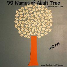 Karima's Crafts: 99 Names of Allah Tree - Day 4 of my 30 Days of Ramadan Crafts