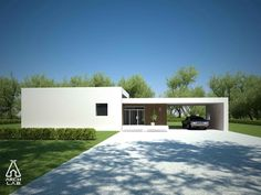 Moderna casa de 3 dormitorios y 1 planta con 2 cocheras | Planos ...