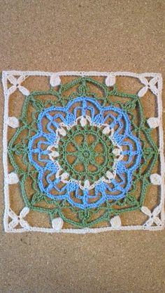 合細毛糸でトルコタイル風レース編みDN2 その3 の画像|野の花手芸噺