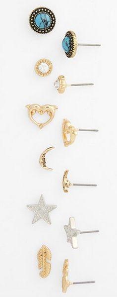 mixed stud earring set http://rstyle.me/n/vzrxnpdpe