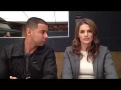 Jon steals a kiss from Stana while rehearsing on set. Kate Beckett, Stana Katic, The Americans Tv Show, Barney Miller, Entertaining Movies, The Slap, Johnny Carson, Best Clips, Castle Tv