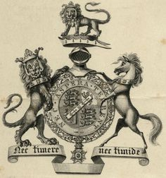 Bookplate of Lord Frederick Fitzclarence.