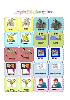 Irregular verbs memory card game (3/3)